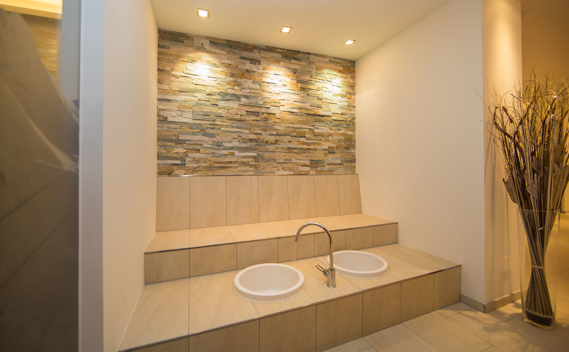 Heated bench with Kneipp baths Appartement Panorama Samnaun