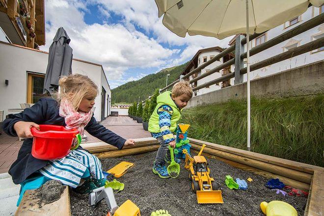 Kinderspielplatz Appartement Panorama Samnaun